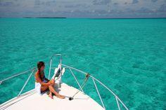I'm on a boat...  Half Moon Caye Park, Central America  #jetsettercurator