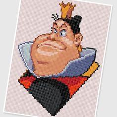PDF Cross Stitch pattern  0253.Queen Of Hearts  Alice by PIXcross