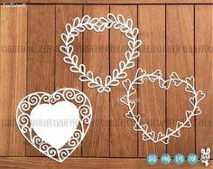 Heart Svg Monogram Frame Bundle SET 3! 12 svg Blank Wreath Frames | Heart Cut File | Wedding svg |Valentine day SVG | Love svg | Cricut Home Decor For personal and commercial use. -------------------------------------------------------------------------------------------------- ♥ Another