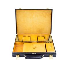 Hermes black leather toiletry case - $1900.