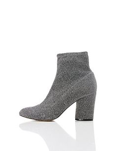 FIND Damen Stiefel mit Blockabsatz, Silber (PEWTER), 38 EU All About Shoes, Ankle, Sandals, Heels, Sneakers, Life, Image, Fashion, Zapatos
