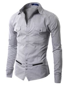 Mens Casual Unique design Dress Shirts (AAK01)