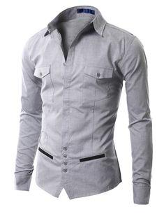 Mens Casual Unique design Dress Shirts (AAK01)