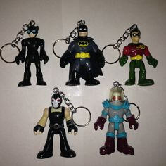 Imaginext Batman Keychains 5 different characters by ErinEtc