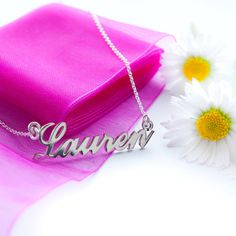 Personalised Sterling Silver Name Necklace by christopherjamesuk