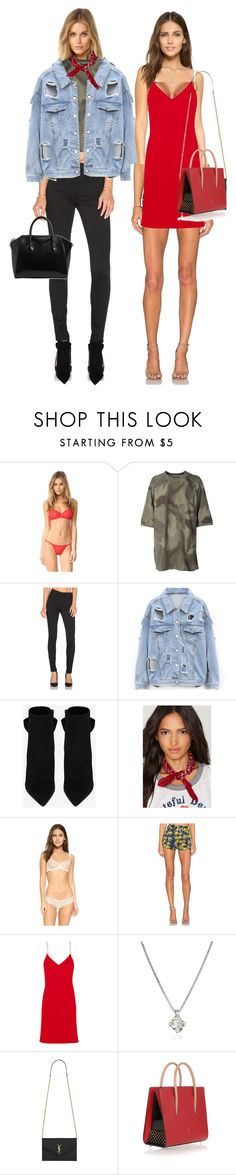 """""""Untitled #2094"""" by makeupbylibby ❤ liked on Polyvore featuring Cosabella, adidas Originals, Citizens of Humanity, Yves Saint Laurent, Eberjey, Sam&Lavi, Calvin Klein Collection, Forzieri, Christian Louboutin and Givenchy"""