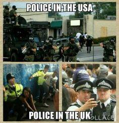 US Police Vs UK Police