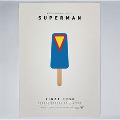 Chungkong - My Superhero Ice Pop - Superman - Print