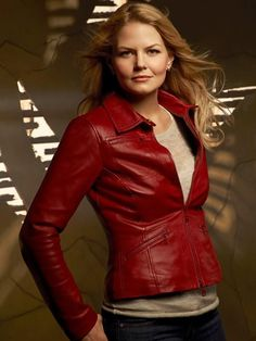 68a5fb4f8f0f6 Jennifer Morrison ( Once Upon a Time ) Red Leather Jacket
