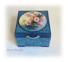 #шкатулкадляукрашений  #шкатулка #ручнаяработа #цветы #декупаж #подарок #handmade  #decoupage