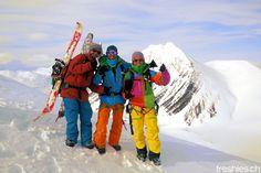 the crew on salomon's birthday peak #freshiesCrew #svalbard2015