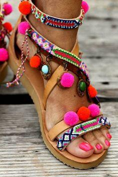 Sandals Gipsy Spell hadmade to order por ElinaLinardaki en Etsy