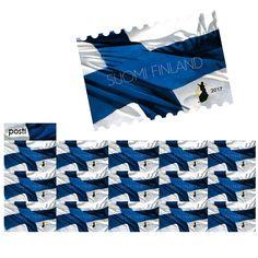 Postin verkkokauppa Kotimaahan Suomen kansallislippu - 15 kotimaan ikimerkkiä Finland, Flag, Stamps, Eggs, Seals, Science, Postage Stamps, Stamp, Flags