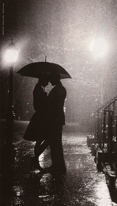 rain can be romantic :) preferably without the umbrella.