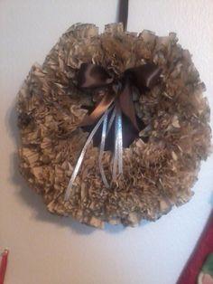 Coffee filter wreath....