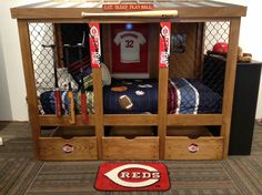 baseball+dugout+bedroom+designs | We thought these rope lamps were interesting.