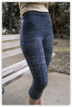 Kalaloch Leggings, knitting pattern by Andrea Rangel