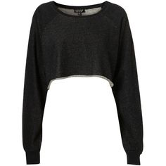 Cut Off Hem Sweat ($23) ❤ liked on Polyvore featuring tops, shirts, sweaters, crop tops, jumpers, cut off shirts, black crop top, black crop shirt, long sleeve cotton tops and cotton crop top
