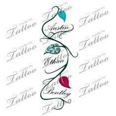 Afbeeldingsresultaat voor children's names tattoos for women
