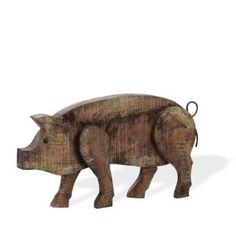 Loving this Large Barnwood Pig Figurine on Woodworking For Kids, Woodworking Projects, Wood Pig, Barn Wood Crafts, Wood Animal, Pallet Art, Wood Patterns, Animal Sculptures, Scroll Saw