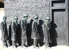 "Sculpture: ""Depression Bread Line"" by George Segal"