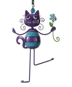 Another great find on #zulily! Purple Cat Bouncy Ornament #zulilyfinds