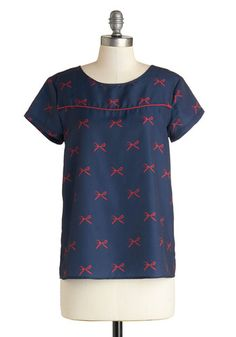 Cute as Can Be Top   Mod Retro Vintage Short Sleeve Shirts   ModCloth.com  This top is absolutely perfect