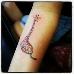 My new tattoo representing mine and my husband's relationship. He loves giraffes and so do I. :)