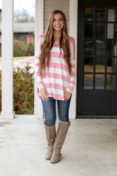 Stripe Tunic - Pink
