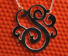 monogram necklace - gorgeous
