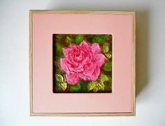 Rose in the Garden Original Painting Acrylic 3D Painting