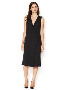 Giorgio Armani Wool Wrap Front Dress