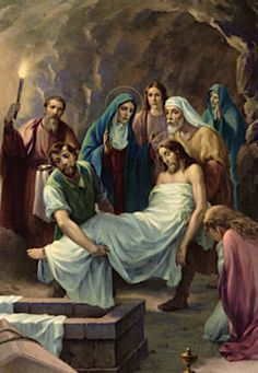 Stations of the Cross - Fourteenth Station: Jesus is laid in the tomb