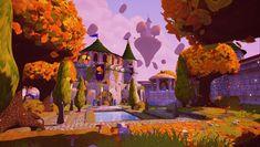 Spyro 2 Autumn Plains Rework - UE4, Nicholas Balm on ArtStation at https://www.artstation.com/artwork/spyro-2-autumn-plains-rework-ue4