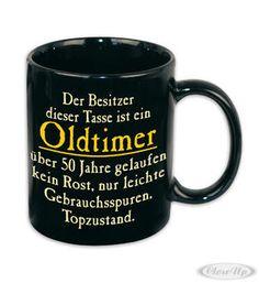 Oldtimer Tasse 50 Jahre gelaufen Hier bei www.closeup.de