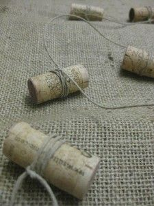 Wine Cork Garland...interesting...maybe individual ornaments for the tree??