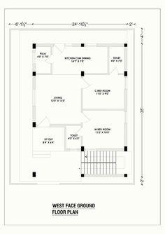west face house plan