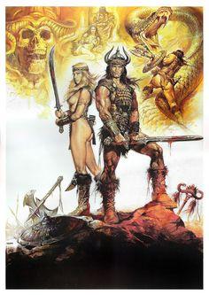Conan artwork by Renato Casaro via The Art Of Pop Culture: Renato Casaro
