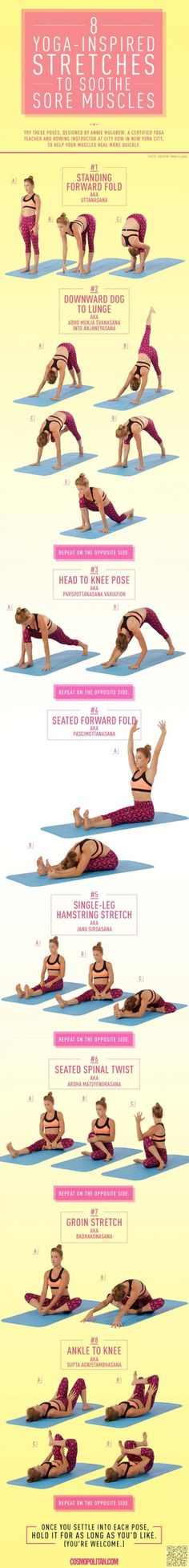 Stretches for Sore Muscles and limber ligaments