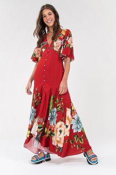 Boho Fashion, Fashion Dresses, Womens Fashion, Homecoming Dresses, Bridesmaid Dresses, Anthropologie, Hippie Style, Blouse Designs, Vintage Dresses