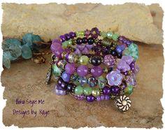 Bohemian Jewelry Boho Layered Bracelet Clarity by BohoStyleMe