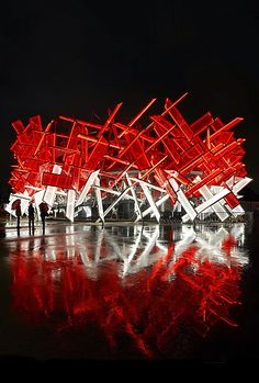 The Coca-Cola Beatbox Pavilion is unveiled at the Olympic Park