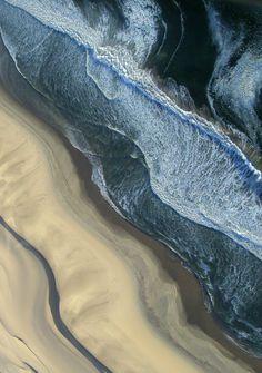aerial beach and ocean in Namibia - beautiful! (by gakout) Beautiful World, Beautiful Places, Beautiful Ocean, Foto Macro, All Nature, Birds Eye View, Aerial Photography, Waves Photography, Photography Ideas