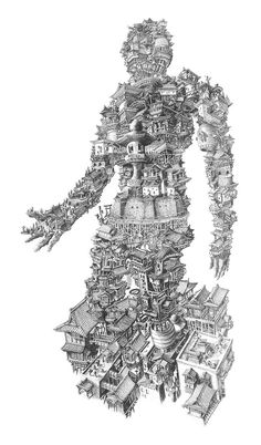 Sean Edward Whelans Architectural People illustration drawing architecture