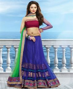 Buy Ravishing Royal Blue Lehenga Choli online at $97.38 [ADF31511]