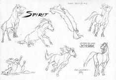 """To anyone who struggles drawing horses, the Spirit animation notes are solid gold. I wish I could find more animation notes like this. Spirit The Horse, Spirit And Rain, Horse Drawings, Animal Drawings, Animation, Spirit Drawing, Arte Equina, Horse Sketch, Horse Anatomy"