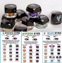 Younique Eyeshadow Loose Pigment Powders. Blue eyes. Green eyes. Brown eyes.
