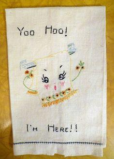 Anthropomorphic Tea Towel