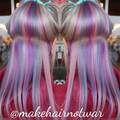 Hidden rainbow hair pastel