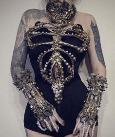 "Gothic Fashion 486529565992674663 - ""Golden corset by AgnieszkaOsipa"" Source by superpetitpanda Dark Fashion, Gothic Fashion, High Fashion, Womens Fashion, Ladies Fashion, Steampunk Fashion, Looks Style, Looks Cool, My Style"